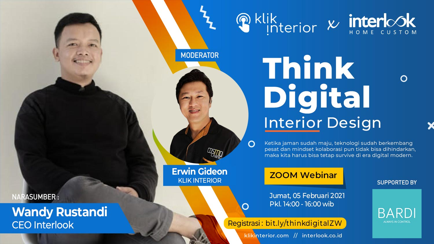 Think Digital Interior Design - Klik Interior x Interlook supported by BARDI Smart Home